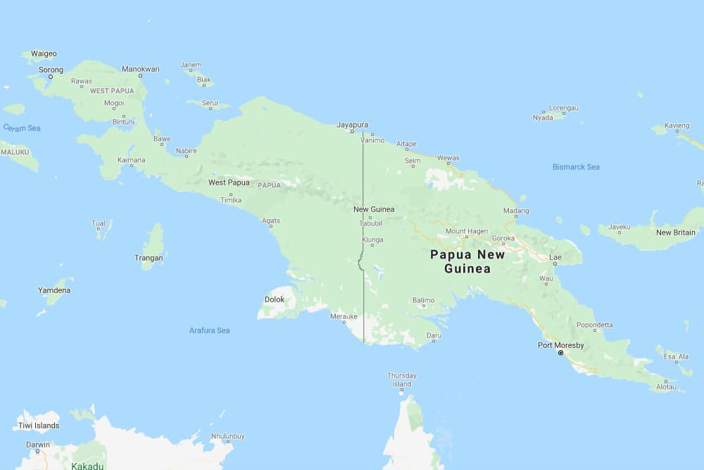Papua New Guinea-Indonesia international border