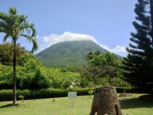Even in good weather, the Peak is often swaddled in clouds climbing Nevis Peak