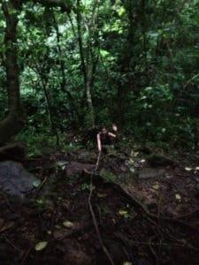 climbing Nevis Peak