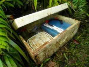 The 'treasure chest' of guestbooks found while climbing Nevis Peak