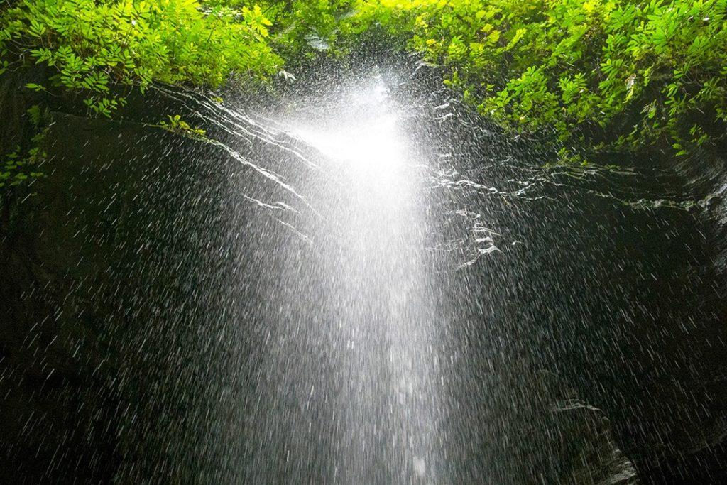 a waterfall near Millennium Cave in Vanuatu