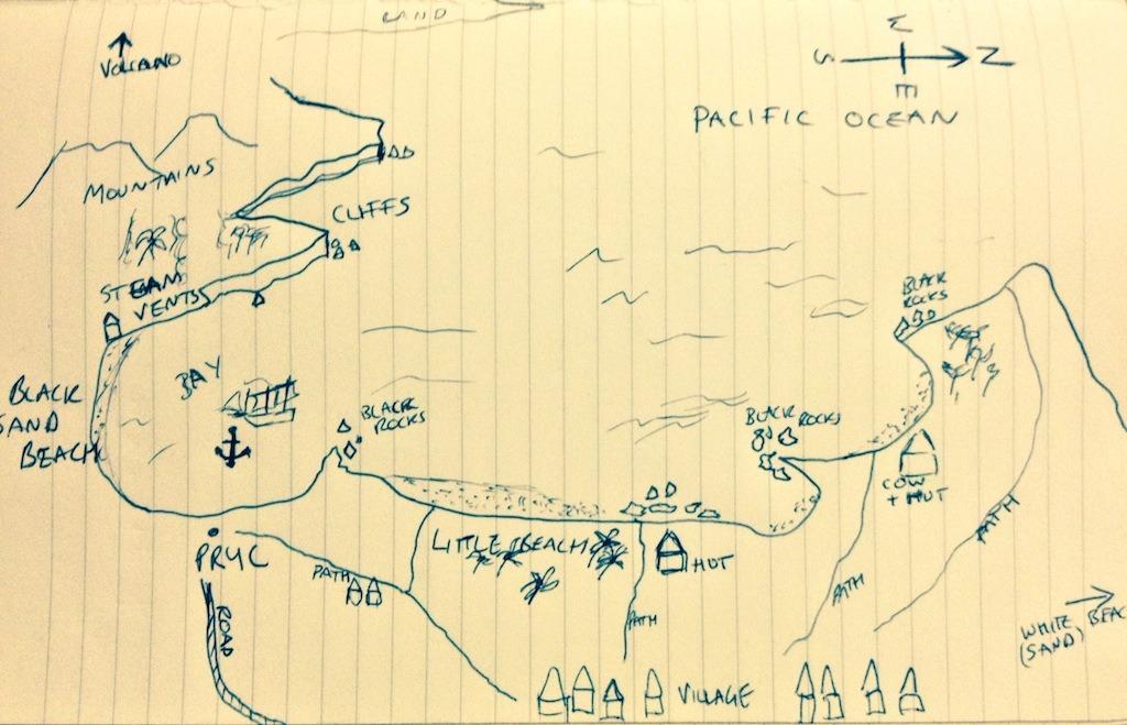 The Map of tanna island in vanuatu