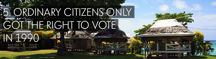 facts about samoa Ordinary citizens only got the right to vote in 1990