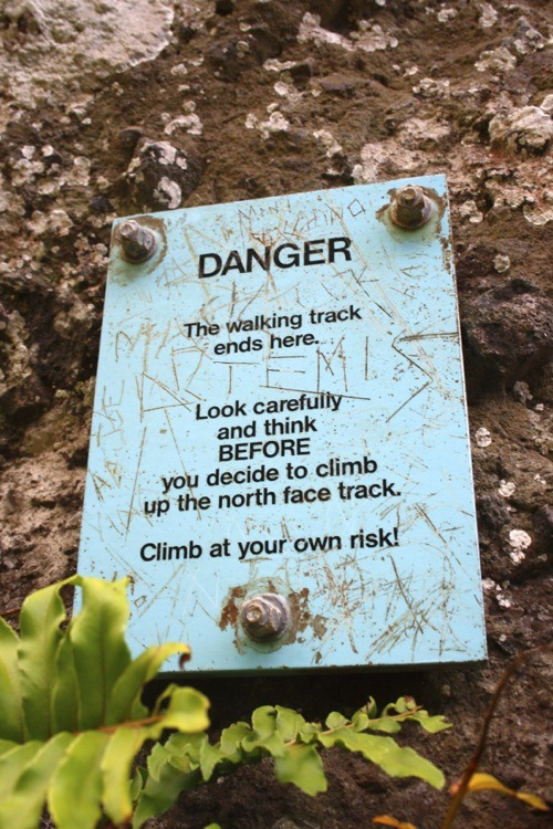 The warning sign