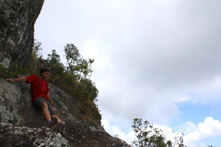 Kia slides down the rockface
