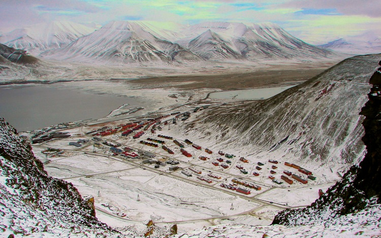 The remote town of Longyearbyen