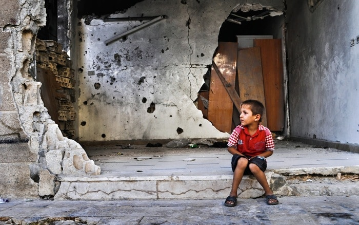 a child in syria