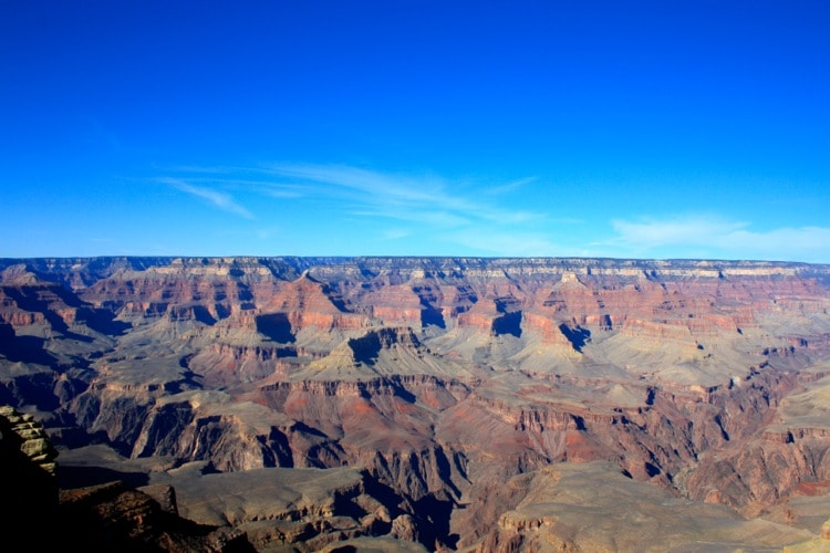 Take a day hike is one of the things to do at the grand canyon