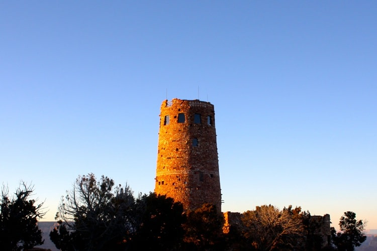 The Desert View Watchtower is one of the things to do at the grand canyon
