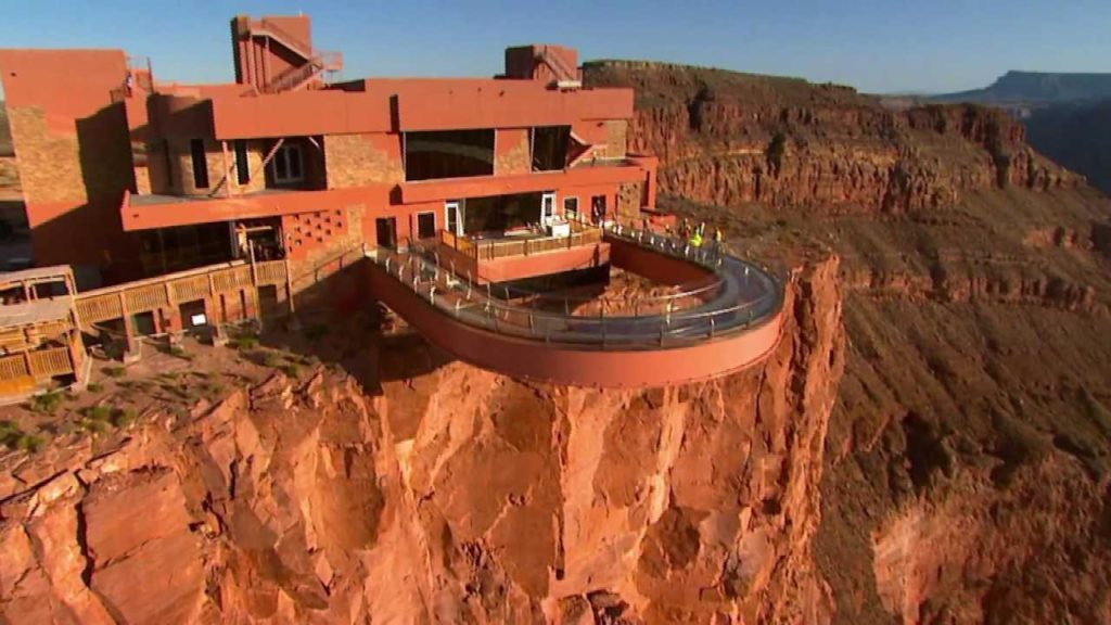 Skywalk is one of the things to do at the grand canyon