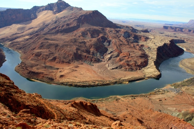 The mighty Colorado River is one of the things to do at the grand canyon