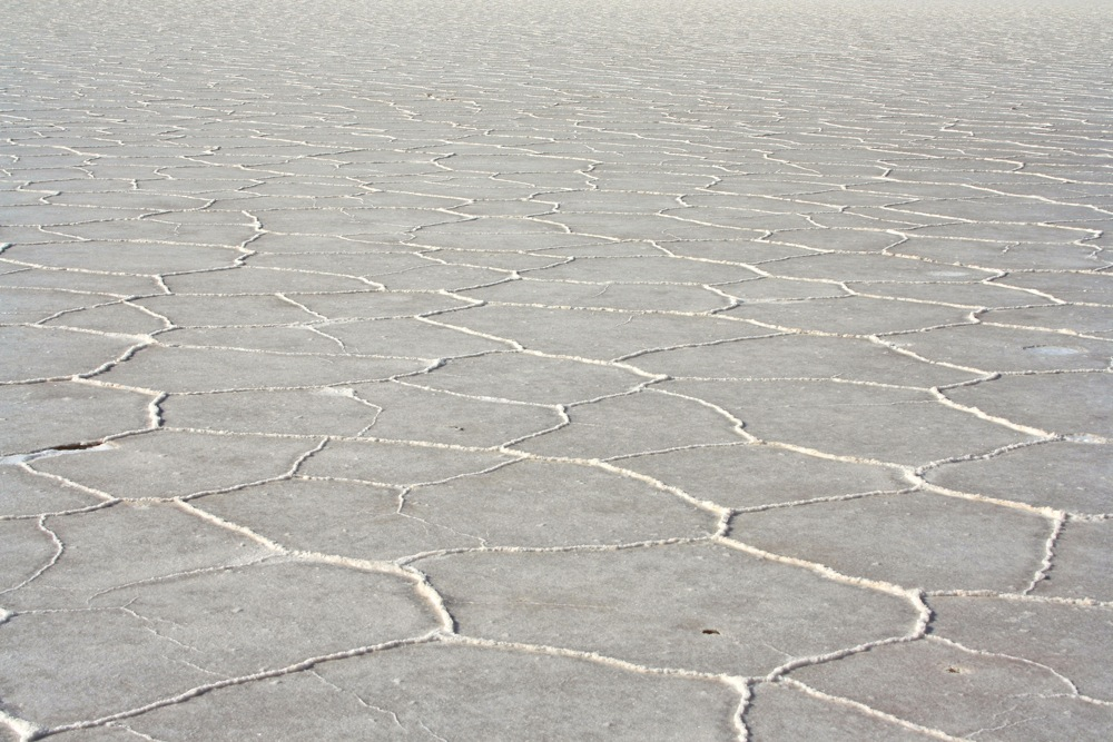 white cracked salt on one of the best road trips in the world