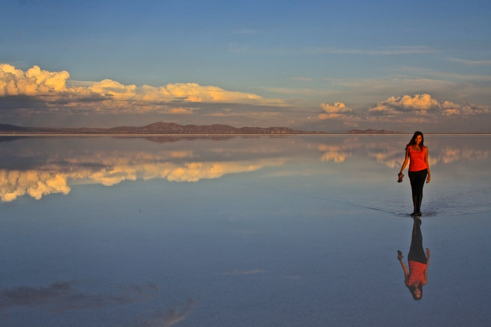 wet salar de uyuni, one of the best road trips in the world