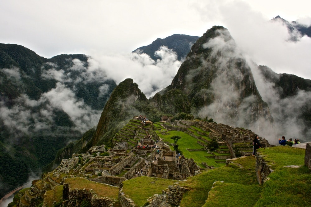 Machu Picchu uses tourism caps