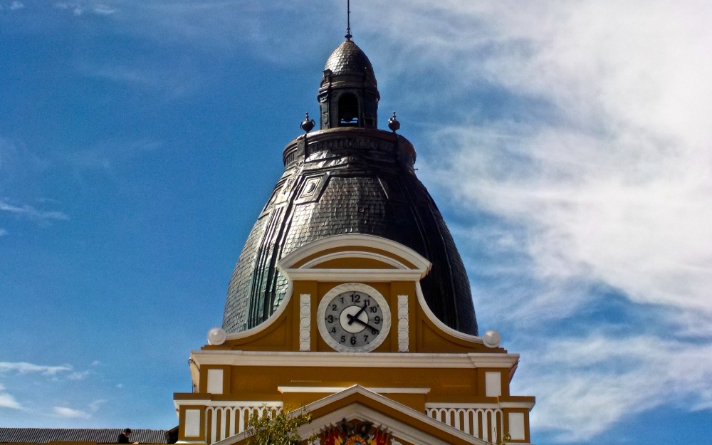 Backward clock on La Paz walking tour