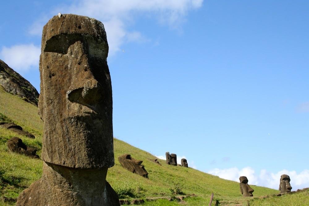 The mystical moai statues of Easter Island