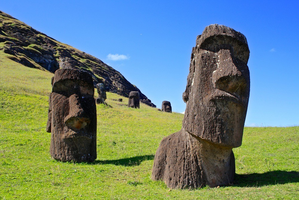 The moai of Easter island draw tens of thousands of visitors