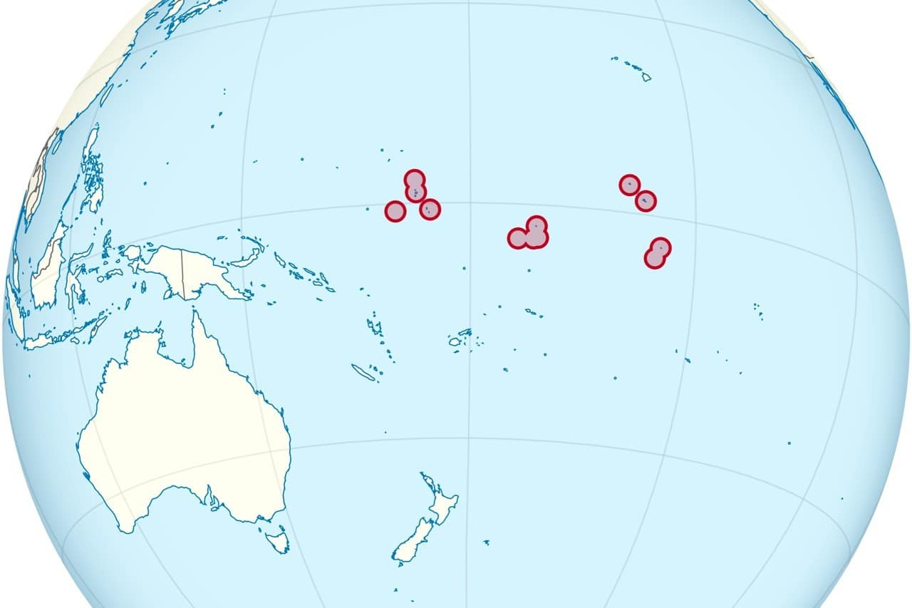 A map of Kiribati, one of the world's least-known countries