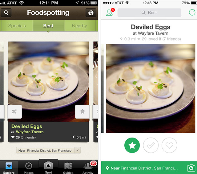 Useful travel apps: Foodspotting screenshot