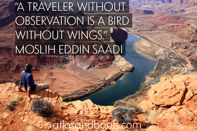 Moslih Eddin Saadi inspirational travel quotes