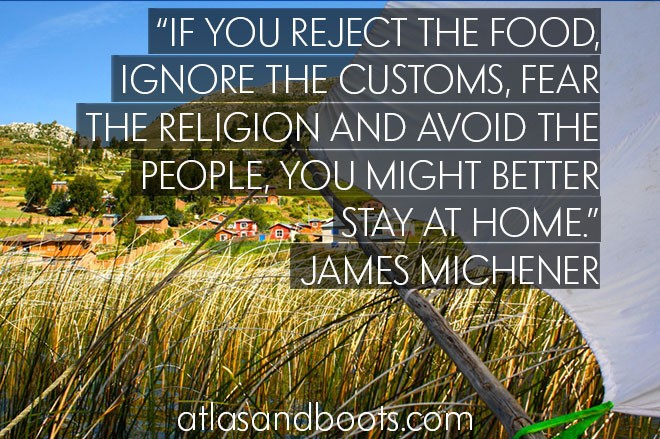 James Michener inspirational travel quotes