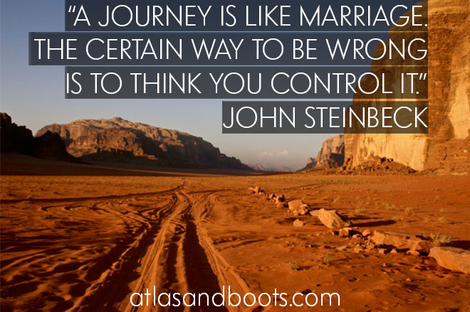 A journey is like marriage... inspirational travel quotes