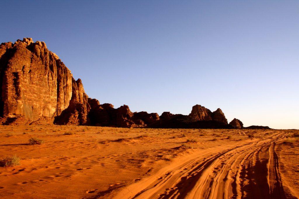 a night in the desert Wadi Rum