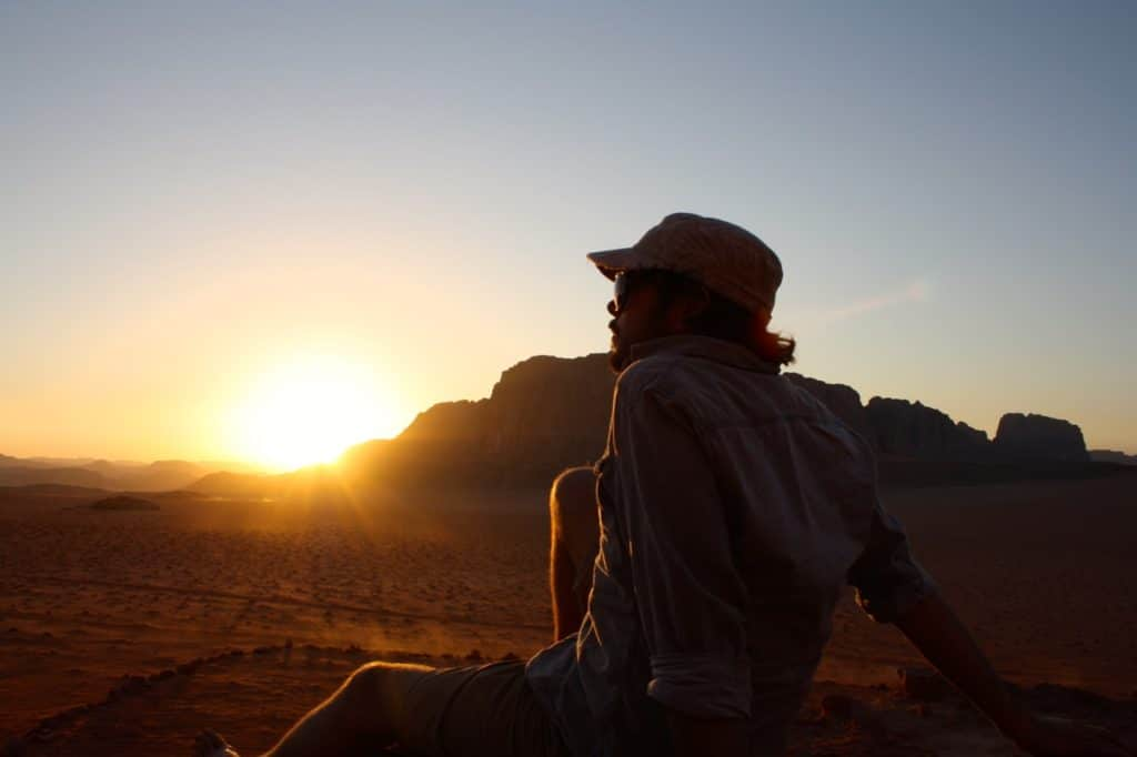 A night in the Jordanian desert wadi rum photography