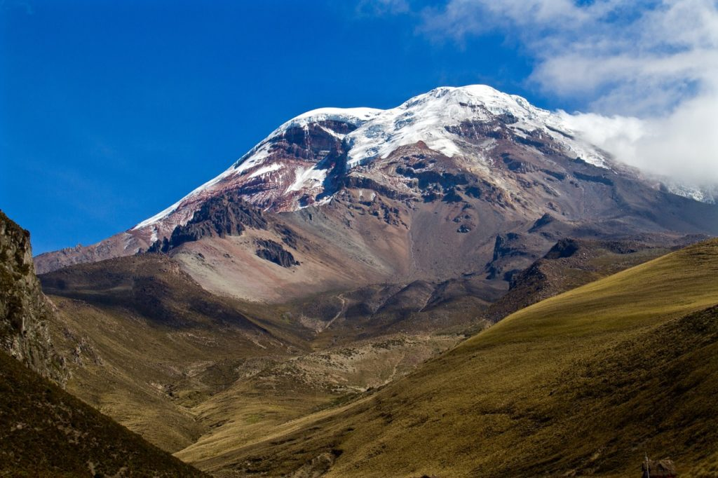 Mount Chimborazo is Ecuador's highest mountain