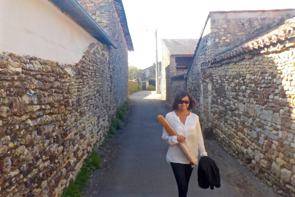 Walking in a tiny French village