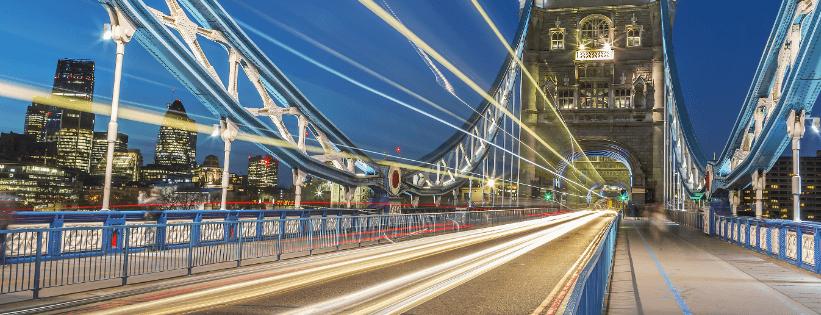 London Bridge at night-time