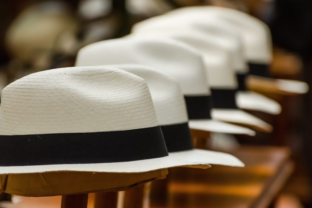 Panama hats in Ecuador