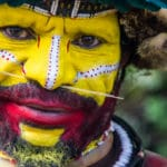 Tribesman in Papua New Guinea, the most multilingual country in the world