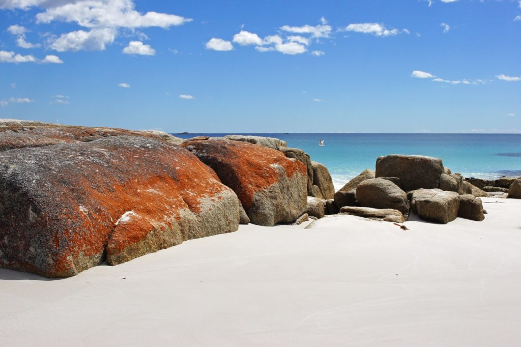 Bay of Fires in Tazmania has some of the cleanest air in the world