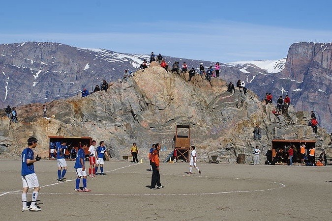 Footballers in Greenland, one of the world's least-known countries