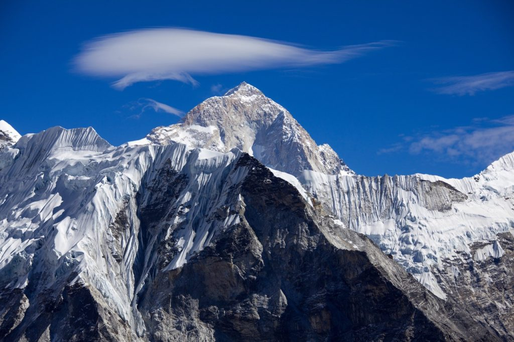 Makalu is notorious for its steep pitches and knife-edged ridges