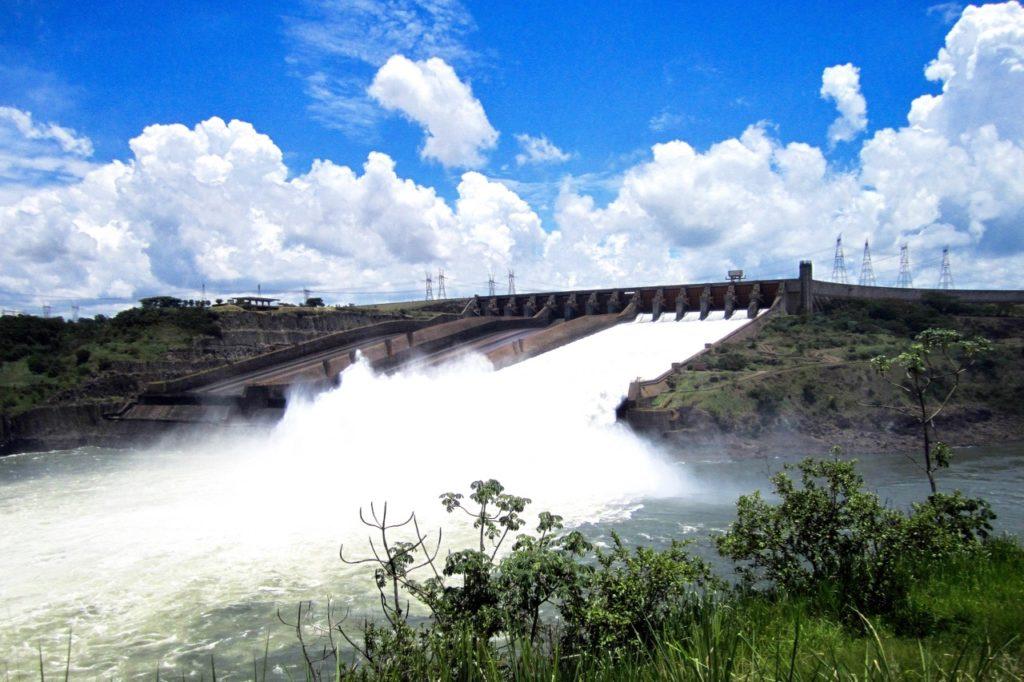Itaipu dam - spillway open