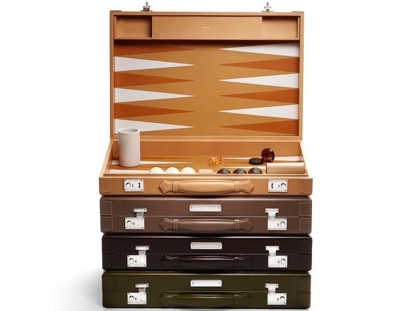 luxury travel gifts: asprey backgammon set
