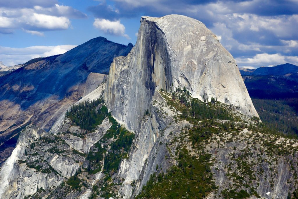 The imposing Half Dome in Yosemite National Park is one of the most beautiful mountains in the world