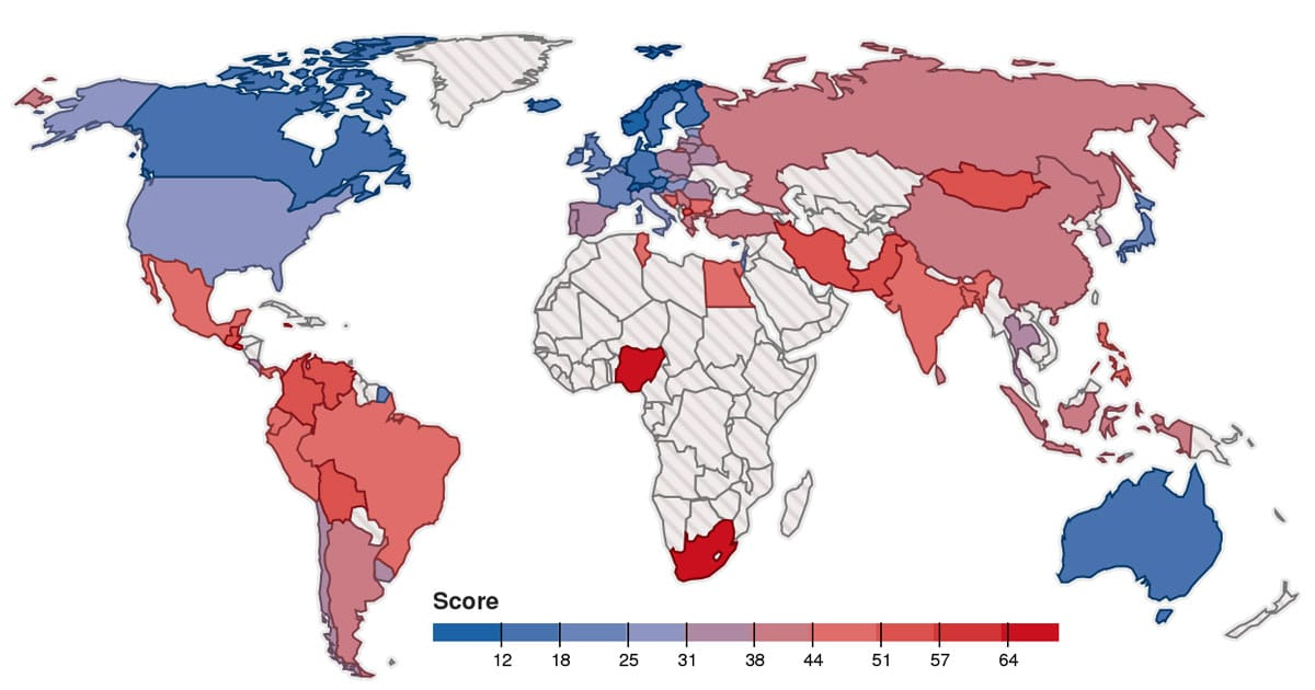 most-stressed-countries