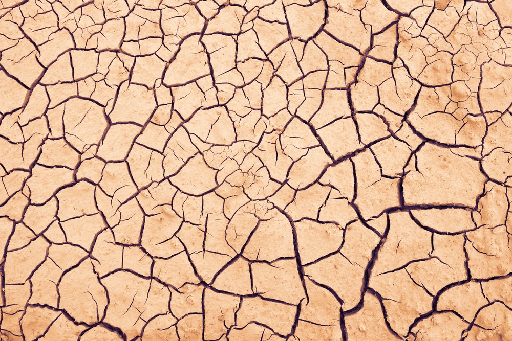 most stressed countries in the world cracked dry earth