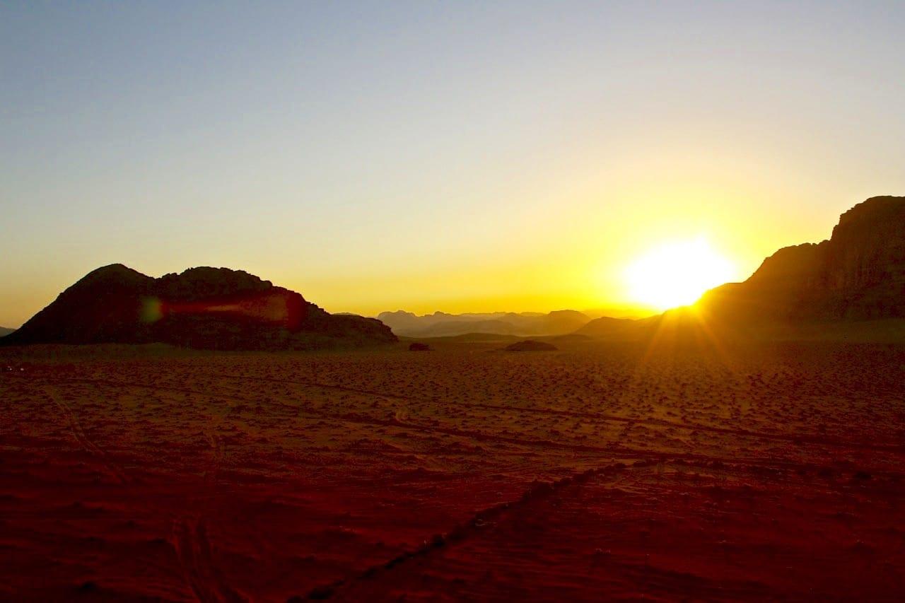 Camping in Wadi Rum sunset - 1