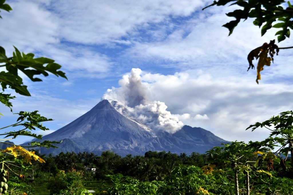 merapi, most active volcanoes