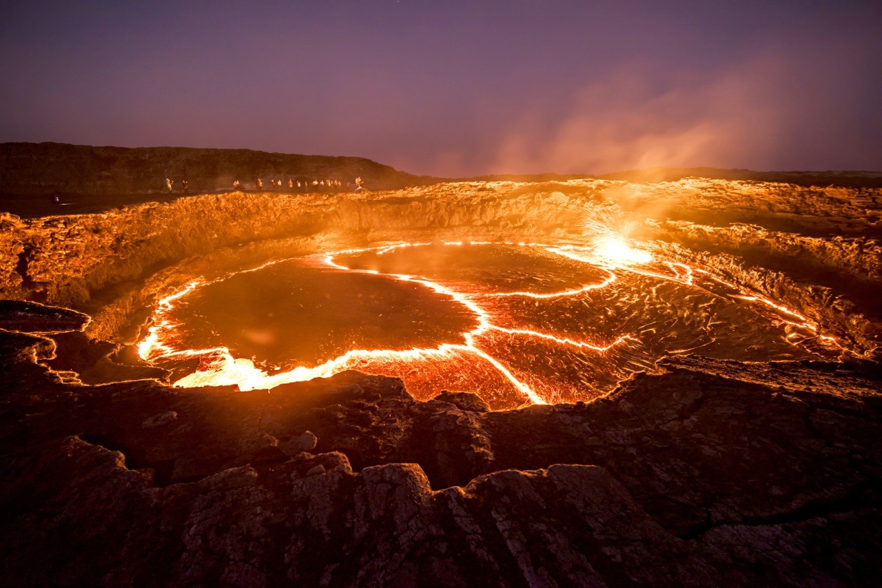 erta ale, most active volcanoes