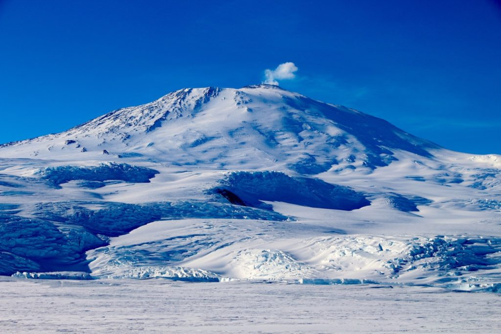 erebus, most active volcanoes