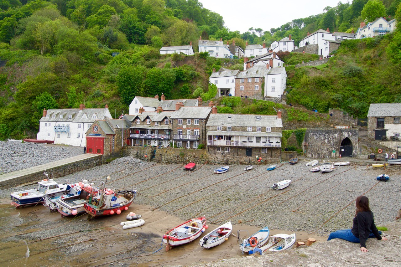 Clovelly-village - harbour
