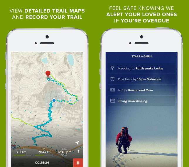 Hiking First Aid Kit: Cairn App