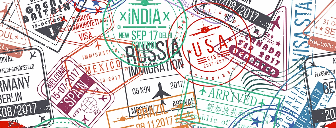 passport stamps of the world