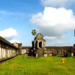 best time to visit Angkor Wat: monk walking