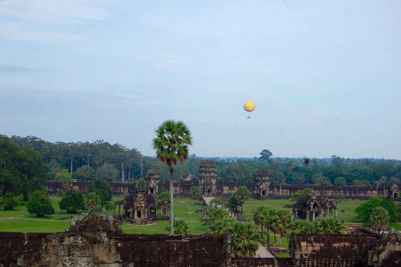 best time to visit Angkor Wat: view from top floor